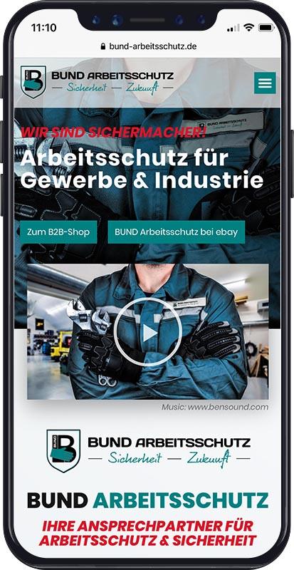 Webdesign BUND Arbeitsschutz