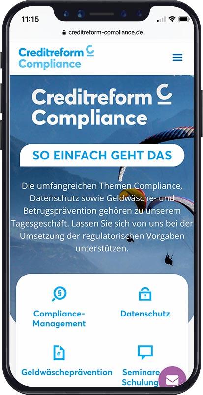 Webdesign Creditreform Compliance