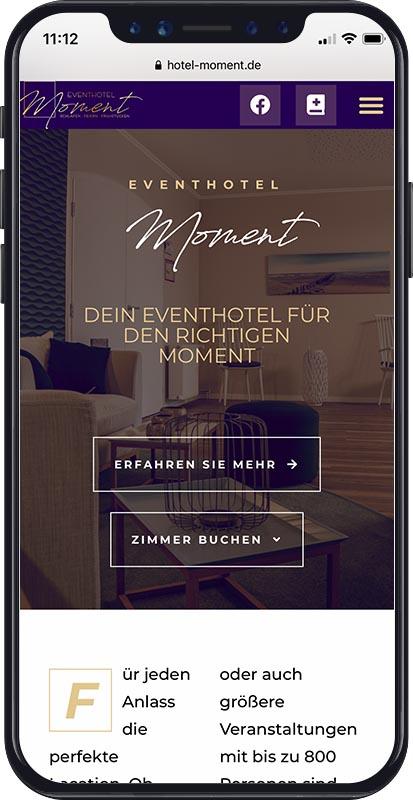 Responsive Webdesign | Referenz von Eventhotel Moment