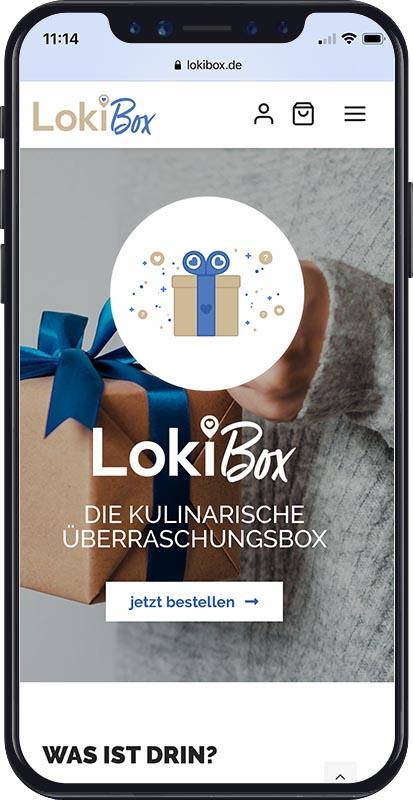 Webdesign LokiBox