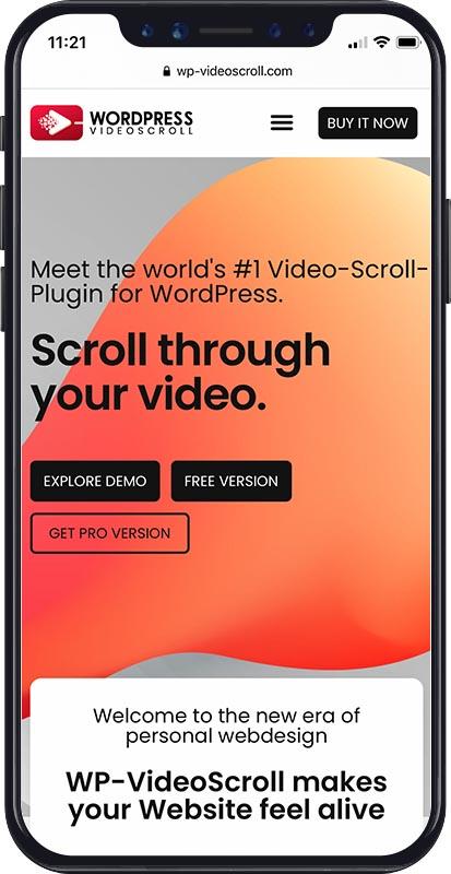 Webdesign WP-VideoScroll
