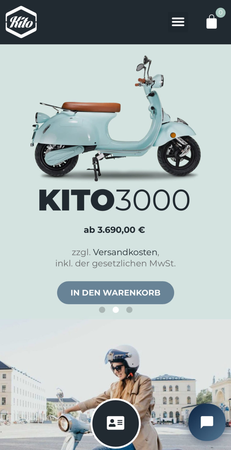 Responsives Webdesign | Referenz von KITO