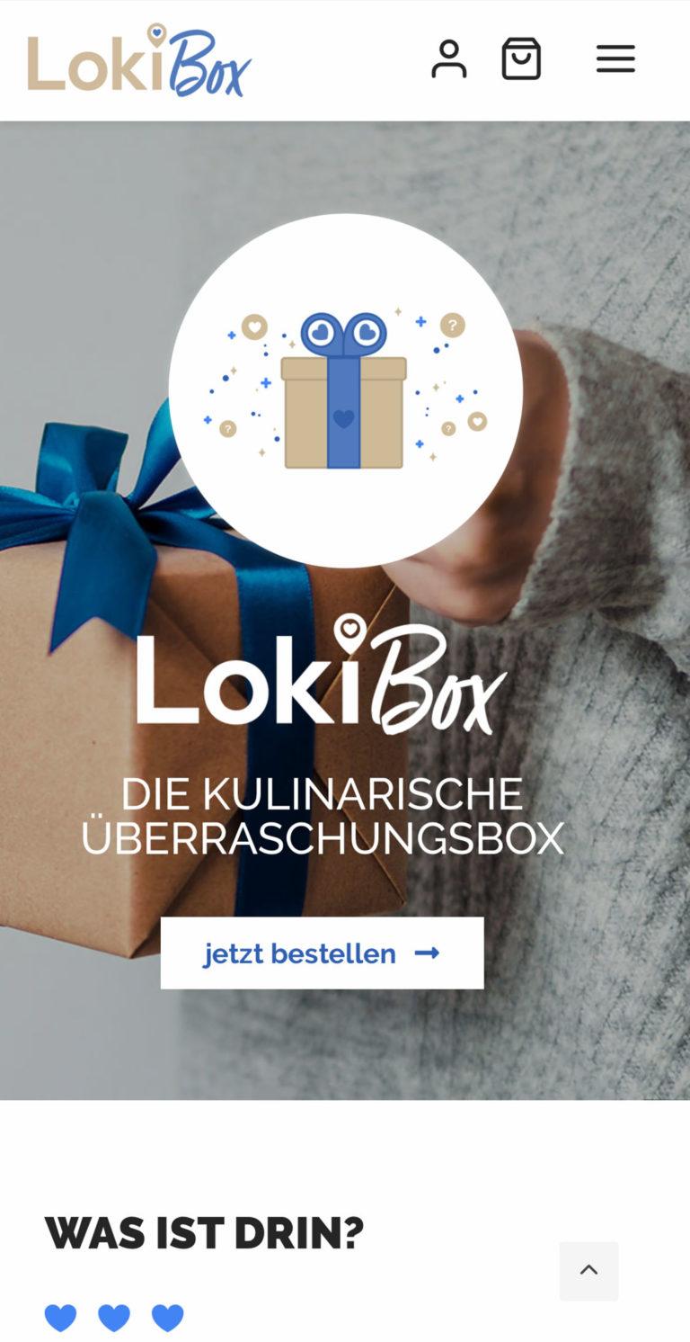 Responsive Webdesign |Referenz von Loki Box