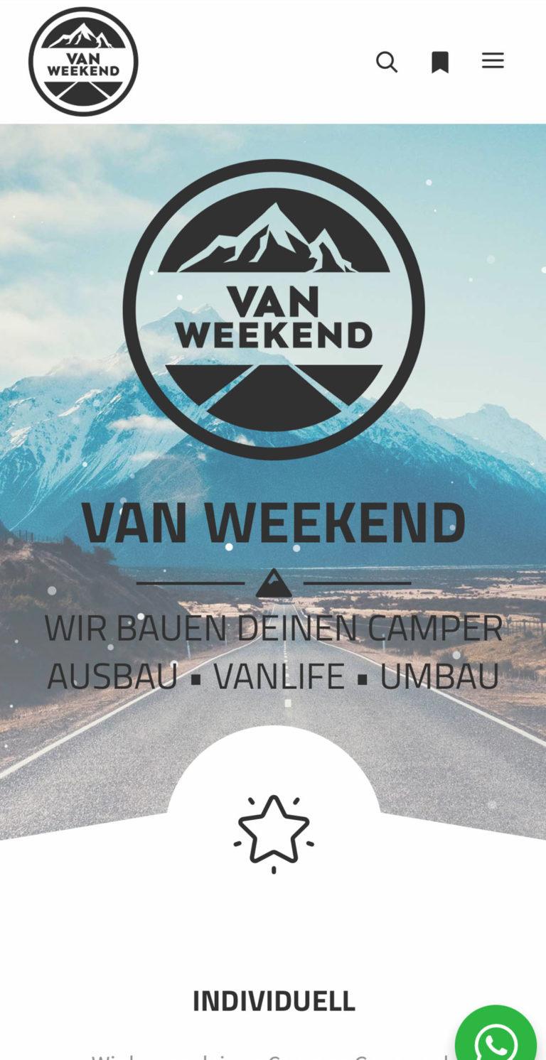 Responsive Webdesign |Referenz von van Weekend